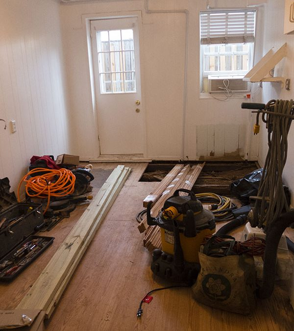 Renovations at the Home